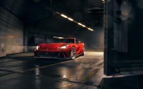 Picture light, lights, hangar, Ferrari, sports car, Superfast, 812, Novitec N-Largo