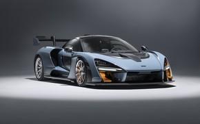 Picture McLaren, supercar, 2018, Senna, Victory Grey