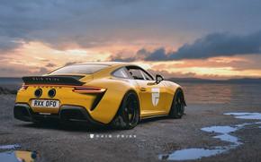 Picture sunset, 911, Porsche, GT3, art, Rain Prisk
