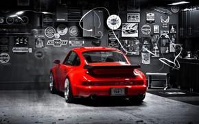 Picture 911, turbo, red, porsche, 964