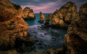 Picture sea, landscape, nature, rocks, coast, beauty, panorama