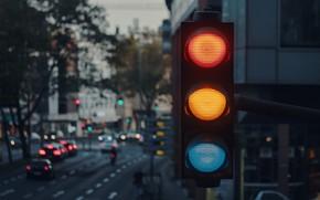 Picture city, lights, wallpaper, cars, macro, blur, buildings, traffic light, 4k ultra hd background
