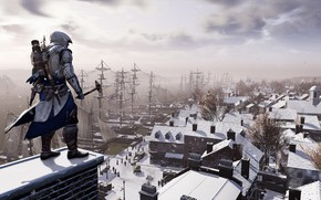 Picture guy, assassin, Assassin's Creed III, looks