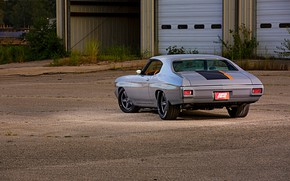 Picture Chevrolet, Chevy, Grey, Chevelle, Muscle car, Custom