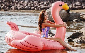 Picture sea, swimsuit, girl, pose, Denis Doronin, Katya Petrova
