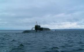 Picture underwater, cruiser, rocket, purpose, strategic, project 667BDRM, K-114