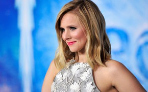 Picture look, background, makeup, actress, blonde, hair, look, blonde, actress, makeup, Kristen Bell, Kristen Bell