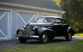 Picture auto, retro, Cadillac, Coupe, 1940, Sixty-Two