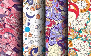 Picture background, pattern, colorful, patterns, seamless, Paisley