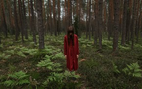 Picture girl, in the woods, Aleks Five