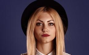 Picture look, girl, portrait, makeup, blonde, beautiful, Sergeant Vyacheslav