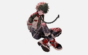 Picture look, chain, guy, My hero Academy, My Hero Academia, Boku No Hero Academy, Midori Isuku