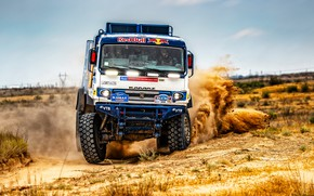 Picture Sand, Auto, Sport, Machine, Speed, Truck, Race, Russia, 300, 2018, Kamaz, Rally, KAMAZ-master, Rally, KAMAZ, …