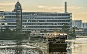 Picture The city, Machine, The ship, Terra, River, Netherlands, Tank, Inland, by Pixabay, Pixabay, Motor Freighter, ...