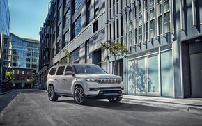 Picture Concept, street, the building, jeep, Grand, Jeep, Wagoneer