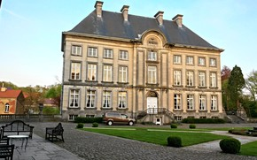 Picture House, Beautiful, landscape, style, old, Belgium, Castle, architecture, Lake, Pond, Medieval, French, Construction, Architectural, Nivelles, …