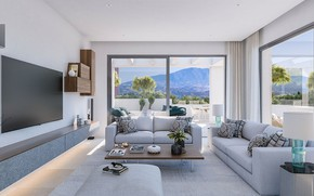 Picture room, interior, terrace, living room, роскошный таунхаус в Вида дель Соль, Luxury townhouse in Vida …