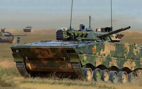 Wallpaper China, BMP, Chinese floating infantry fighting vehicle, Type 04, ZBD-04