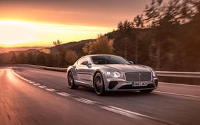 Picture speed, Bentley, Continental GT, 2018