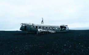 Picture The plane, People, Landscape, Landscape, Airplane, Man, The fuselage, Fuselage, by Stefan Stefancik, Stefan Stefancik