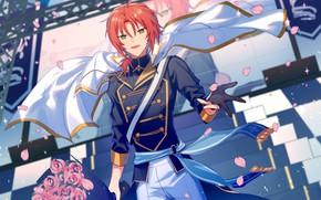 Picture bouquet, petals, Fanart, Ensemble Stars!, Tsukinaga Leo