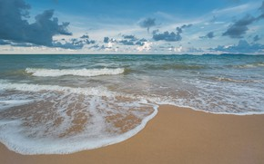 Picture sand, sea, wave, beach, summer, summer, beach, sea, blue, seascape, sand, wave