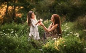 Picture summer, girl, nature, smile, child, girl, Anastasia Barmina