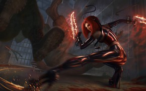 Picture weapons, rage, sparks, fight, Bloodrayne