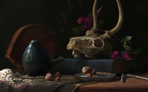 Wallpaper naturmort, Joseph Harford, Still life study