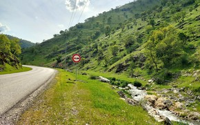 Picture road, sign, mountain, kurdistan, قەیوان