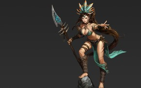 Picture mood, warrior, fantasy, art, Amazon, Monable ., Amazon Hunter