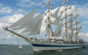 Picture sea, ship, sailboat, sails, The WORLD, mast
