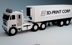 Picture truck, international, The truck, AlexStormND, ASND, 3d print