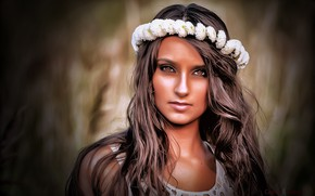 Picture grass, brown hair, model, beauty, Alex Kotarski