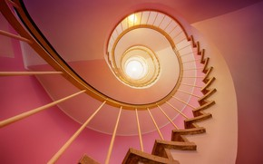 Picture spiral, railings, spiral staircase