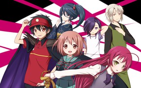 Picture girls, anime, guys, Lord of darkness for part time job, Hataraku Maou-sama