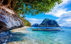 Picture the ocean, coast, boat, Philippines, The Nest, Palawan