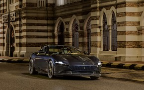 Picture the building, coupe, the evening, Ferrari, Roma, 2020