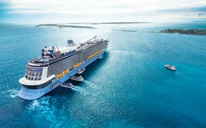 Picture The ocean, Sea, Liner, The ship, Royal Caribbean International, Passenger ship, Cruise Ship, Ferry, Anthem …