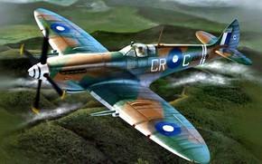 Picture WWII, RAAF, Clive Caldwell, Spitfire Mk VIII, ''Killer''