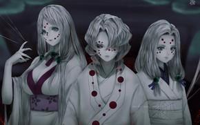 Picture ghosts, trio, horror