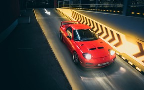 Picture Red, Auto, Night, Machine, Mazda, RX-7, Mazda RX-7, Transport & Vehicles, by Yan Kotov, Yan …