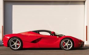 Picture Red, side view, Supercar, LaFerrari, 2015