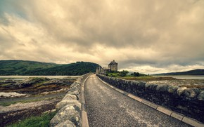 Picture road, the sky, Scotland, Dornie