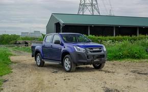 Picture blue, front, pickup, Isuzu, D-Max, 2019