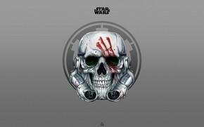 Picture Minimalism, Star Wars, Background, Art, Art, Sake, Skeleton, Attack, Stormtrooper, Stormtrooper, by Leo Tanguin, Leo …