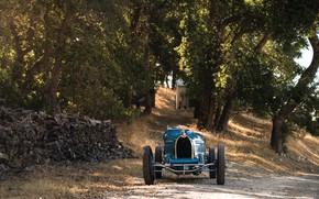 Picture Retro, 1927, Front view, Sports car, Bugatti Type 35C