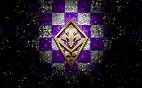 Picture wallpaper, sport, logo, football, glitter, checkered, Fiorentina