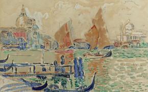 Picture figure, watercolor, 1904, View Of Venice, Paul Signac, Paul Signac