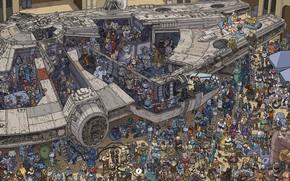 Picture Star Wars, Fantasy, Art, Art, Millennium Falcon, Characters, Rebels, Millennium Falcon, Comic Art, Millenium Falcon, …